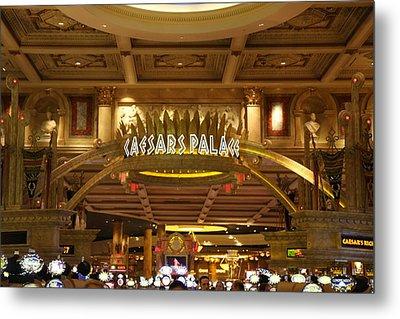 Las Vegas - Caesars Palace - 12128 Metal Print by DC Photographer