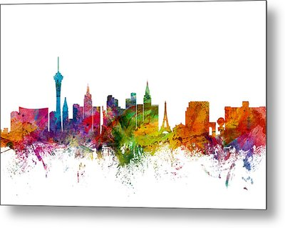 Las Vegas Nevada Skyline Metal Print by Michael Tompsett