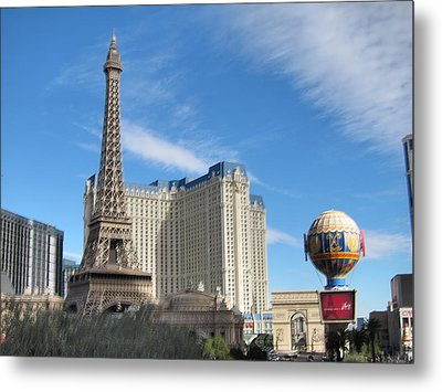 Las Vegas - Paris Casino - 12125 Metal Print by DC Photographer