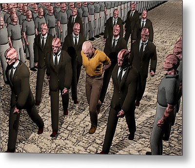 Metal Print featuring the digital art Last March Of The Non Conformist by John Alexander