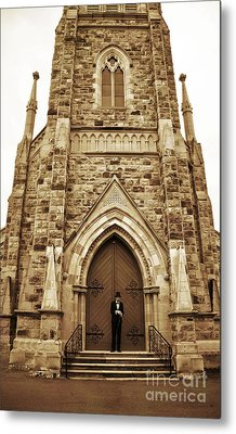Late For His Own Funeral Metal Print