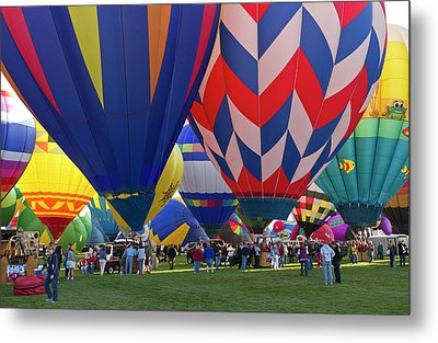 Launch Site At The Albuquerque Hot Air Metal Print by William Sutton