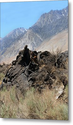 Lava-white Mountains II Metal Print by Harold E McCray