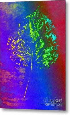 Leaf Imprint  Metal Print by Gail Matthews