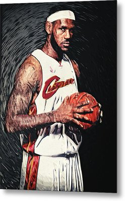 Lebron James Metal Print by Taylan Apukovska