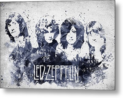Led Zeppelin Portrait Metal Print