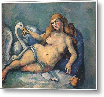 Leda And The Swan Metal Print by Paul Cezanne