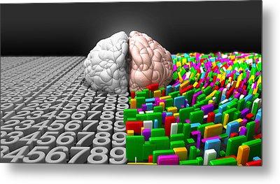 Left Brain Right Brain Metal Print by Allan Swart