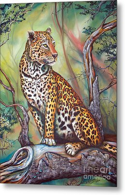 Leopard Metal Print by Nicole O'Connor