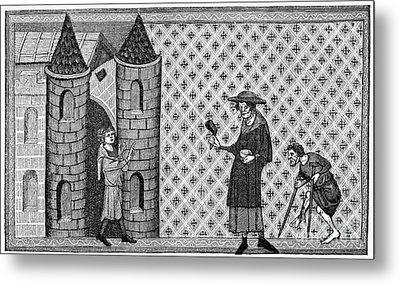 Leper House, C1220-1244 Metal Print by Granger