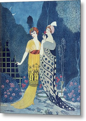 Les Modes Metal Print by Georges Barbier