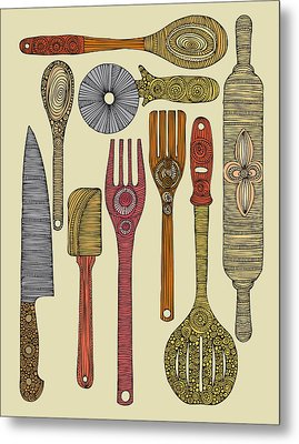 Lets Cook Metal Print by Valentina Ramos