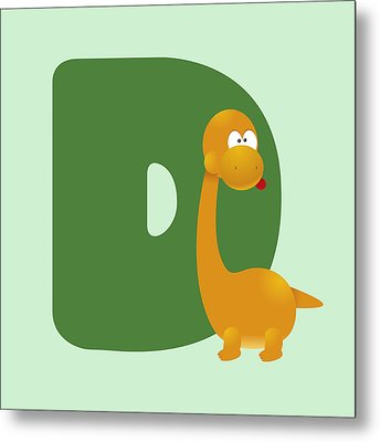 Letter D Metal Print by Gina Dsgn