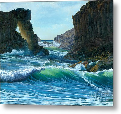 Letting The Ocean In Metal Print by Jeanette French