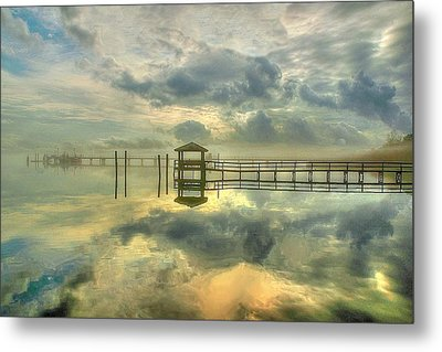 Levitating Dock Metal Print