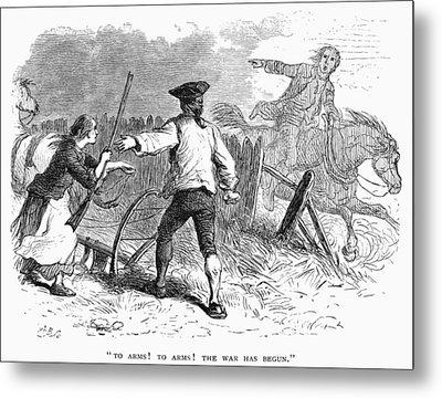 Lexington: Minutemen, 1775 Metal Print by Granger