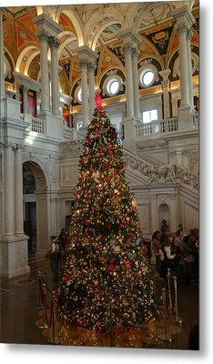 Library Of Congress - Washington Dc - 01138 Metal Print by DC Photographer