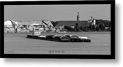 Life On The Ohio River Metal Print by David Lester