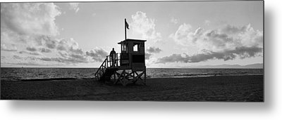 Lifeguard Hut On The Beach, 22nd St Metal Print by Panoramic Images