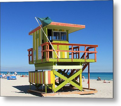 Lifeguard Stand Metal Print by Rosie Brown