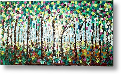 Light Through The Forest Metal Print