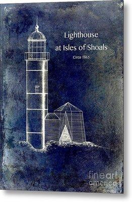 Lighthouse At Isles Of Shoals Metal Print by Jon Neidert