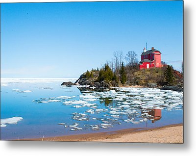 Lighthouse Metal Print by Jill Laudenslager