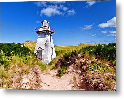 Lighthouse On The Dunes Metal Print by Dan Dooley