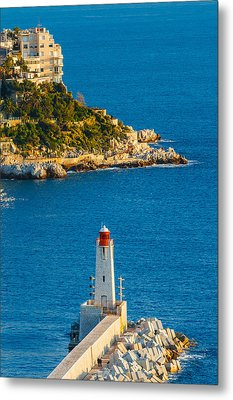 Lighthouse On The Riviera Metal Print by Sarit Sotangkur