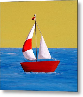 Lil Sailboat Metal Print by Cindy Thornton