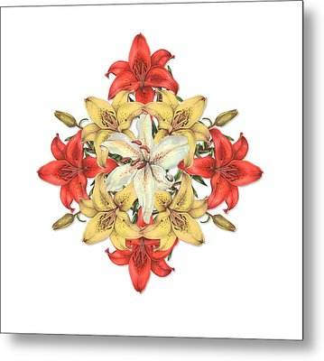 Lily Cluster Metal Print
