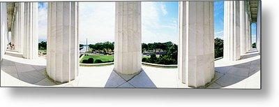 Lincoln Memorial Washington Dc Usa Metal Print by Panoramic Images