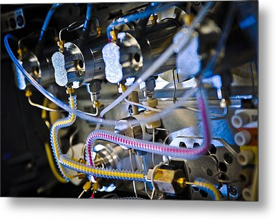 Liquid Chromatography Machine Metal Print by Science Photo Library