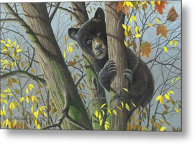 Metal Print featuring the painting Little Mischief by Mike Brown