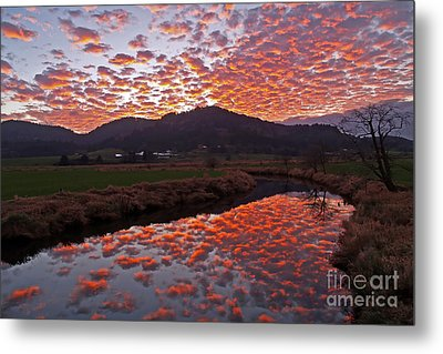 Little Nestucca Sunset Metal Print by Tim Moore