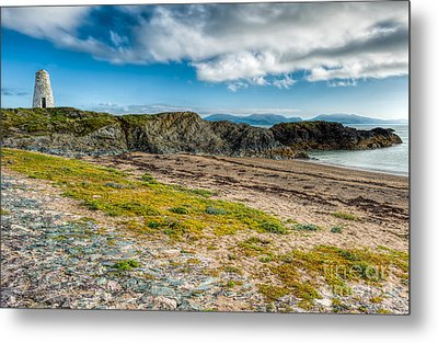 Llanddwyn Beacon Metal Print by Adrian Evans