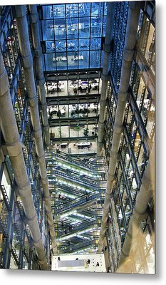 Lloyds Of London Interior Metal Print by Mark Williamson