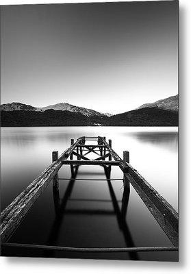 Loch Lomond Jetty Metal Print by Grant Glendinning