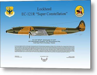 Lockheed Ec-121r Super Constellation Metal Print by Arthur Eggers
