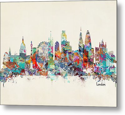 London City Skyline Metal Print by Bri B