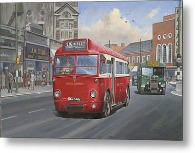 London Transport Q Type. Metal Print by Mike  Jeffries