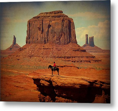 Lone Rider Metal Print by Terry Eve Tanner