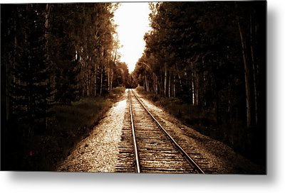 Lonely Railway Metal Print