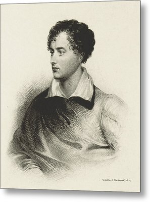 Metal Print featuring the photograph Lord Byron, English Romantic Poet by British Library