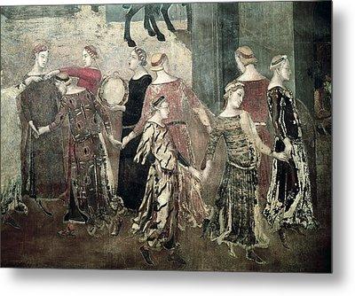 Lorenzetti, Ambrogio 1285-1348 Metal Print by Everett