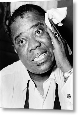 Louis Armstrong (1900-1971) Metal Print by Granger