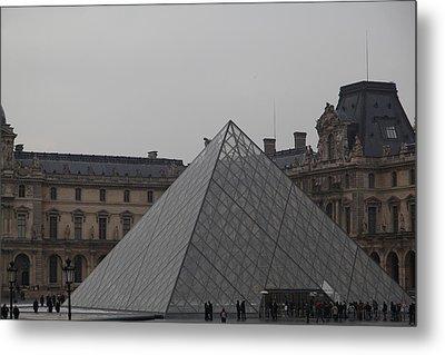 Louvre - Paris France - 01133 Metal Print by DC Photographer