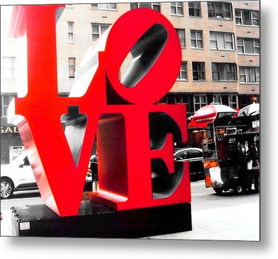 Metal Print featuring the photograph Love by J Anthony
