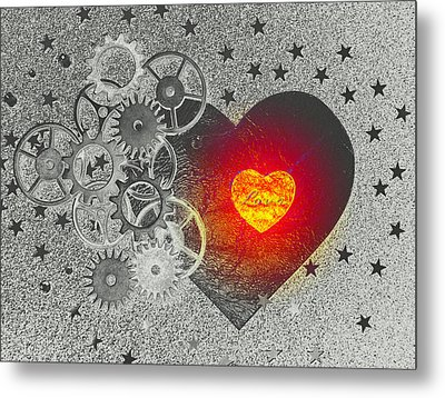 Love Makes It Work Metal Print by Christine Ricker Brandt