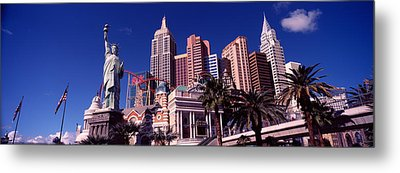 Low Angle View Of A Hotel, New York New Metal Print
